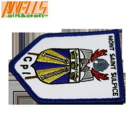 Military Logo Velcro Backing Iron On Embroidery Patch
