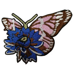 Washable 60mm Height 12C Color Polyester Embroidered Patch
