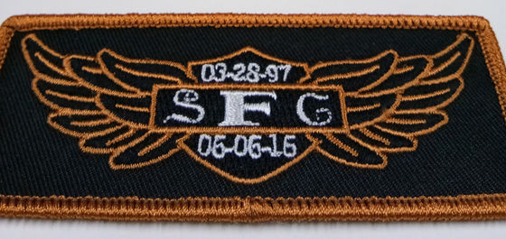SFG Merrow Border Iron Embroidery Patches For Uniform Sportwear