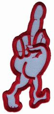 US Irregular Shape Gesture Twill Embroidered Badge Patch ISO